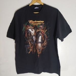 Vintage Budweiser Clydesdales Art Graphic T-Shirt